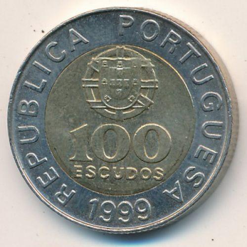100 эскудо 1999 год. Португалия. Педро Нуниш