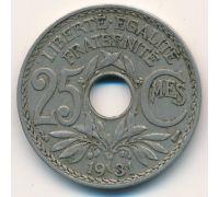 25 сентим 1931 год Франция (сантим)