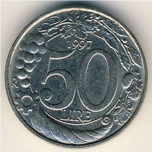 50 лир (1993–2001 г.) Италия