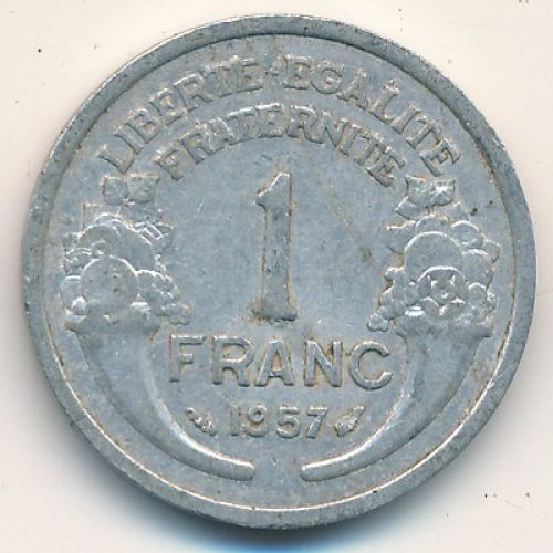 1 франк 1957 год. Франция