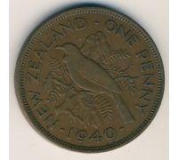 1 пенни 1940 год Новая Зеландия. Георг VI