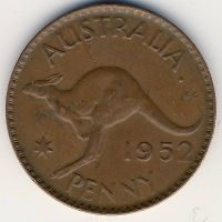 1 пенни 1952 год Австралия (m) Мельбурн