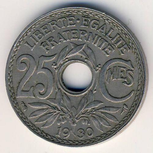 25 сентим 1930 год Франция (сантим)