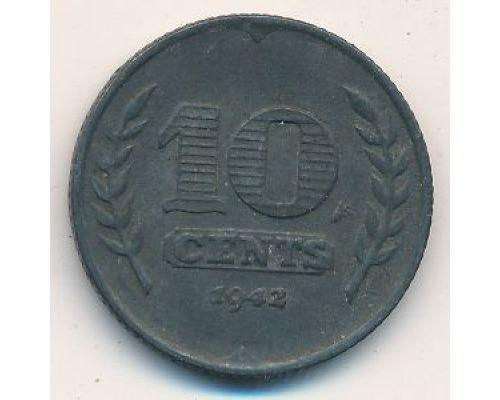10 центов 1942 года Нидерланды