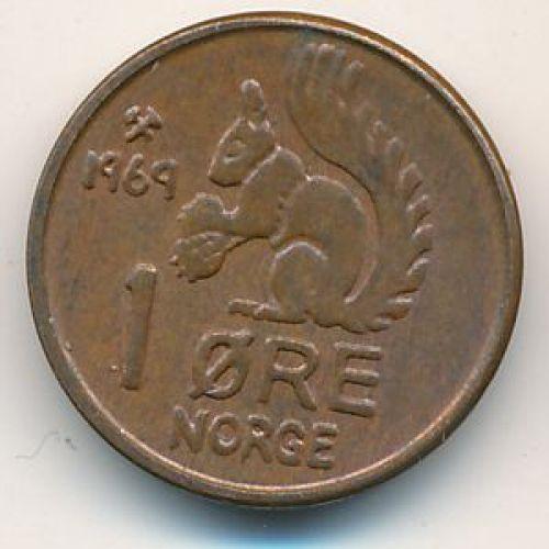 1 эре 1969 год. Норвегия