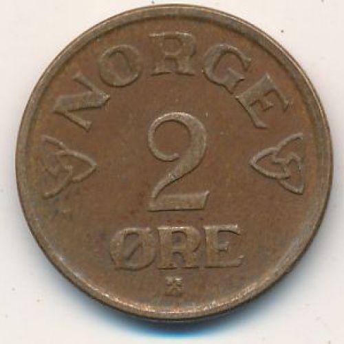 2 эре 1956 год. Норвегия