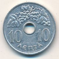 10 лепт 1954 год. Греция