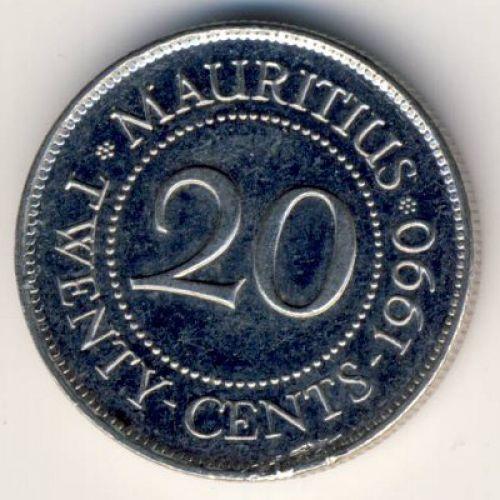 20 центов 1990 год Маврикий. Сивусагур Рамгулам