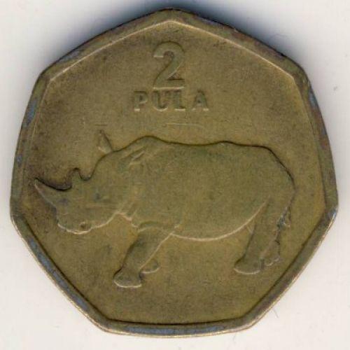 2 пула 2004 год Ботсвана. Носорог
