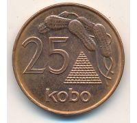 25 кобо 1991 год Нигерия. Арахис