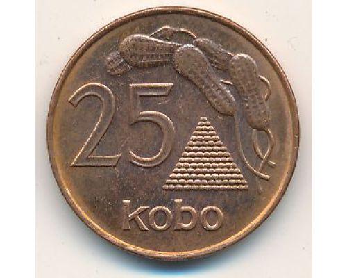 25 кобо 1991 год Нигерия Арахис