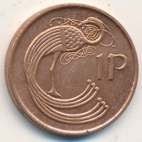 1 пенни 1998 год. Ирландия