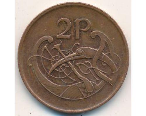 2 пенса 1992 год Ирландия