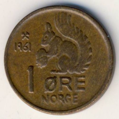 1 эре 1961 год. Норвегия