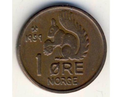 1 эре 1959 год. Норвегия