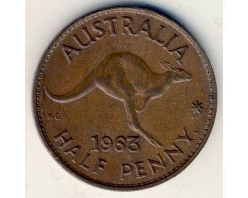 1/2 пенни 1963 год Австралия - Пол пенни