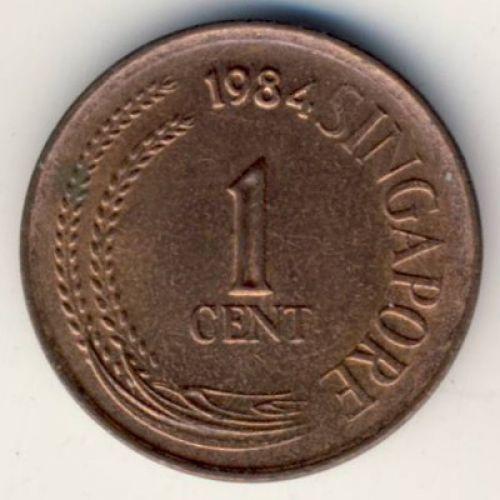 1 цент 1984 год. Сингапур