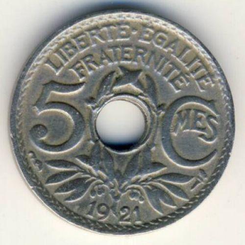 5 сентим 1921 год Франция (сантим)