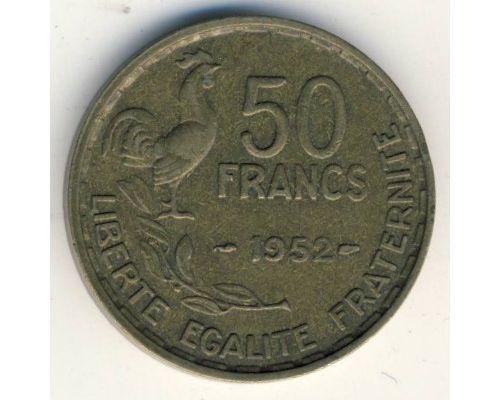 50 франков 1952 год Франция Петух