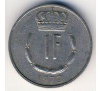 1 франк 1972 год Люксембург Жан