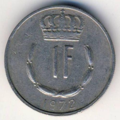 1 франк 1972 год Люксембург. Жан