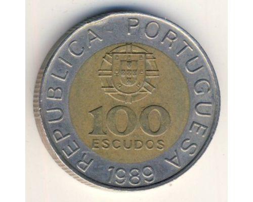 100 эскудо 1989 год Португалия Педро Нуниш