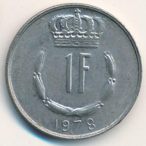 1 франк 1978 год Люксембург. Жан
