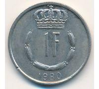 1 франк 1980 год Люксембург Жан