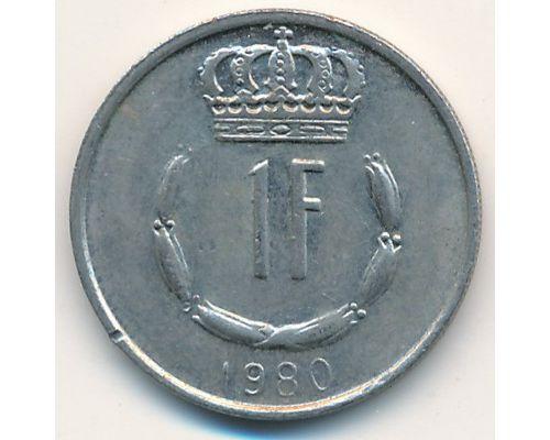 1 франк 1980 год Люксембург. Жан