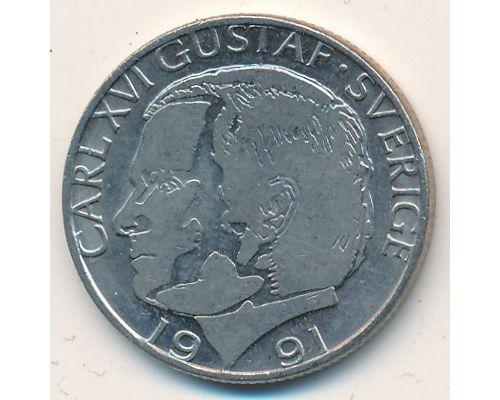 1 крона 1991 год Швеция
