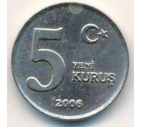 5 новых куруш 2006 год Турция