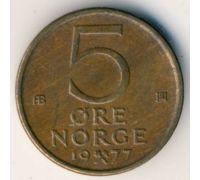 5 эре 1977 год Норвегия
