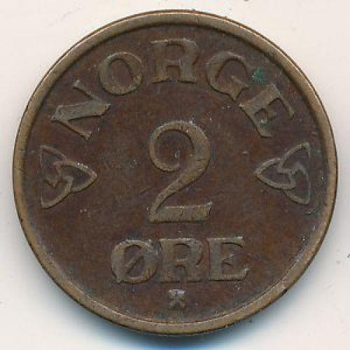 2 эре 1953 год. Норвегия