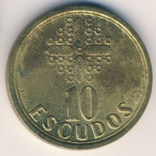 10 эскудо 1997 год. Португалия