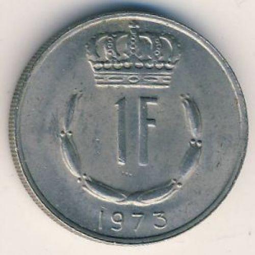 1 франк 1973 год Люксембург. Жан