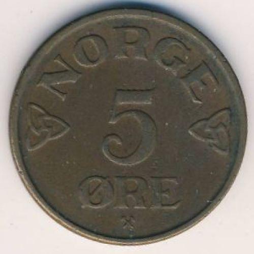 5 эре 1952 год. Норвегия