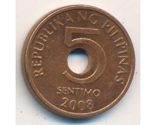 5 сентимо 2008 год Филиппины