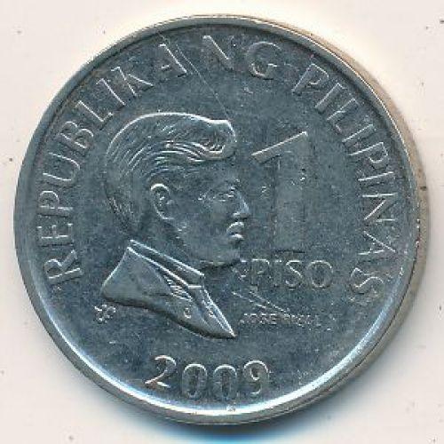 1 писо 2009 год Филиппины - песо