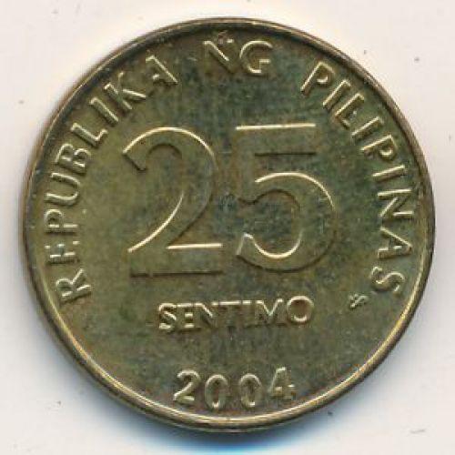 25 сентимо 2004 год Филиппины