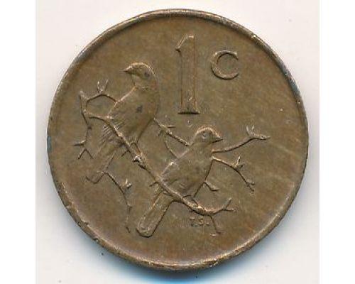 1 цент 1975 год ЮАР