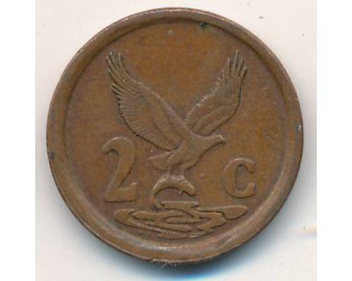 2 цента 1992 год ЮАР
