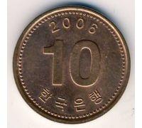 10 вон 2006 год Южная Корея