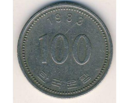 100 вон 1983 год. Южная Корея