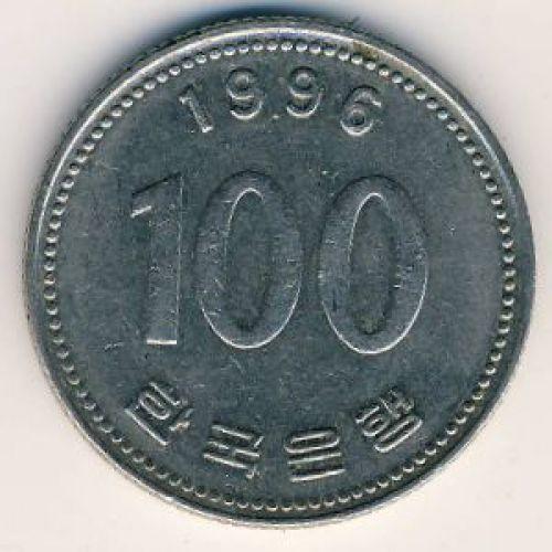 100 вон 1996 год. Южная Корея