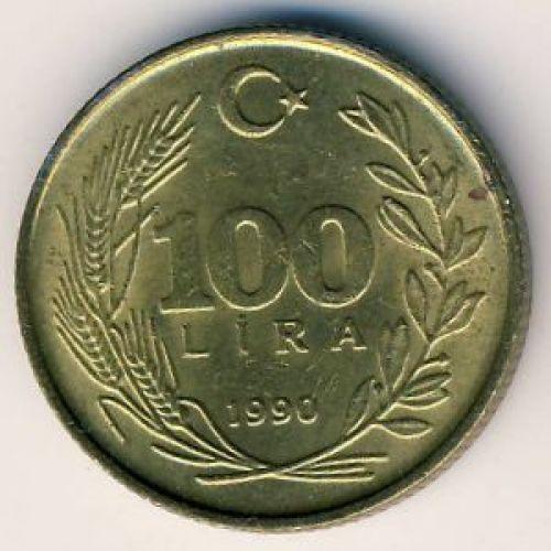 100 лир 1990 год Турция