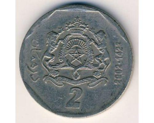 2 дирхама 2002 год Марокко