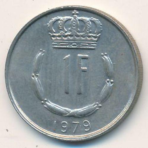 1 франк 1979 год Люксембург. Жан