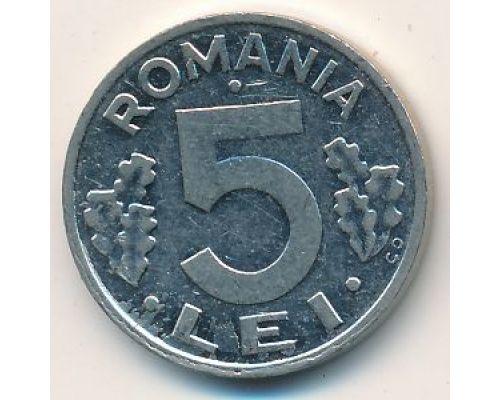 5 лей 1992 год Румыния