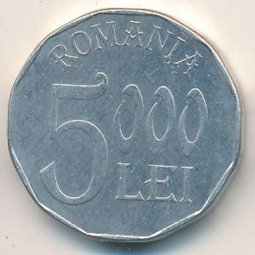 5000 лей 2002 год. Румыния