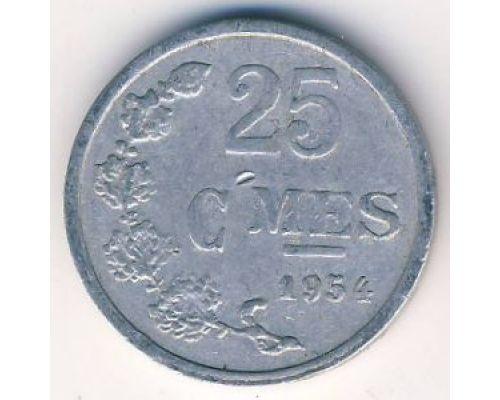 25 сантим 1954 год Люксембург